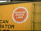 Railroad Box Car Showing the Logo of the Missouri Pacific Railroad