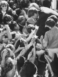 Senator Robert F Kennedy Mobbed by Youthful Admirers During Campaign