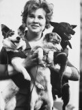Tamara Kosaryeva Holding Dogs at Soviet Academy of Sciences