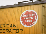 Railroad Box Car Showing the Logo of the Missouri Pacific Railroad