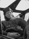 President Dwight D Eisenhower Sitting in an Airplane During His Korean Inspection Trip