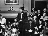 Senatorial Candidate John F Kennedy  Attending Tea Party Given by Female Supporters