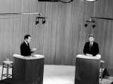 Senator John F Kennedy and Vice President Richard M Nixon  During 4th Nixon Kennedy TV Debate