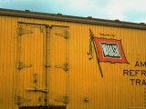Railroad Box Car Showing the Flag Logo of the Wabash Railroad
