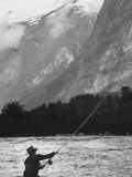 Sportsman Fishing in Norway
