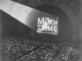 The March of Time Movie Being Shown at Radio City Music Hall