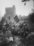 Turkish Troops in Front of Cyprus Castle