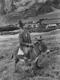 Tristan Da Cunha Island Chef Willie Repetto Riding Donkey