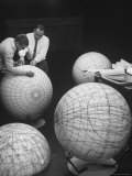 Scientists Studying Moon Phases on Models in Preparation For US Manned Flight to Moon