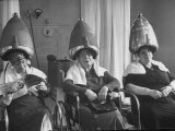 Old Age Essay: Seniors under Dryers in Hair Salon
