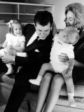Newly Elected Senator Edward M Kennedy with Wife Joan and Their Children Kara and Ted Jr