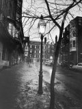 Rainy Beacon Hill St at Dusk During Series of Boston Stranglings