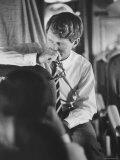 Senator Robert F Kennedy Aboard Plane During Trip to Help Local Candidates