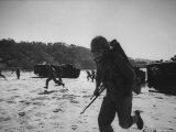 US Marines Participating in Maneuvers