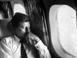 Senator John F Kennedy on His Private Plane During His Presidential Campaign