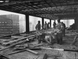Workers During Construction of Seagrams Building