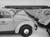Parking Lot Outside of Volkswagen Plant Filled with Volkswagen Cars