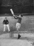 Melbourne School Boys Playing Cricket
