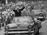 President Dwight D Eisenhower and Kai Shek Chiang in Motorcade During His Eastern Good Will Tour