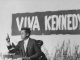 Senator John F Kennedy Campaigning For President