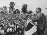 Senator John F Kennedy During His Campaign For Presidency