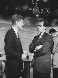 Presidential Candidate John F Kennedy Speaking to Fellow Candidate Richard M Nixon