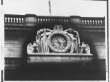 Ornate Sculptural Exterior Clock on Neo Classical Facade of Penn Station  Soon to Be Demolished