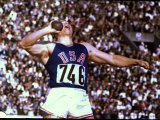 US Athlete in Action During the Shot Put at the Summer Olympics
