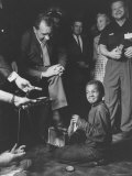 Vice President Richard M Nixon Getting His Shoes Shined at the GOP Convention