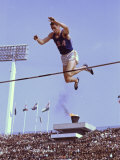 US Athlete in Action During the Pole Vault at the the Summer Olympics