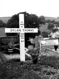 Poet Dylan Thomas' Grave Site Located in St Martin's Churchyard