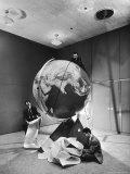Smithsonian Institution Scientists Dr Josef A Hynek Plotting Orbit of Sputnik I