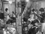 Women Getting Their Hair Done in a Beauty Salon
