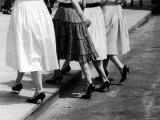 Women Walking Wearing Spike Heels