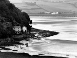 View of Poet Dylan Thomas' Boathouse Along the Coastline of Wales