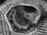 Milwaukee Braves Playing the New York Yankees in Baseball at the World Series