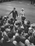 Vice President Richard M Nixon and Wife Greeting the Crowd as They Arrive For the GOP Convention