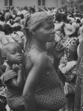 Mother Carrying Her Child During Evangelist Billy Graham's African Crusade