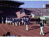 US Team Marching Into the Stadium During the Opening Ceremonies of the Summer Olympics