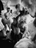 Showgirls Sitting in the Dressing Room of the Stardust Hotel