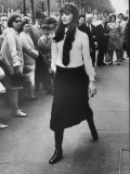 Model Linda Hechter Wearing Maxi Length Skirt
