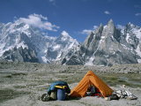 A Camp Set up in Charakusa Valley  Karakoram  Pakistan