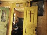 A Clergyman Studies Inside a 13Th-Century Orthodox Church