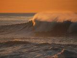 Breaking Surf at Sunset in La Jolla