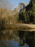 Autumn View of the Park with Half Dome in the Background