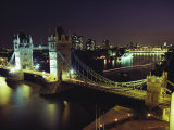 Tower Bridge  Thames River  London  England