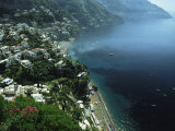 An Aerial View of Hillside Villages on the Water at Positano