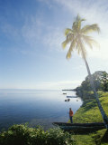 Tourist by Shoreline  Belize