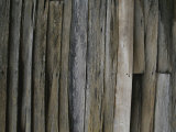 Close View of Slats on an Antique Timber Barn