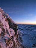 A Man Rappels Down a Mountain in Grand Teton National Park